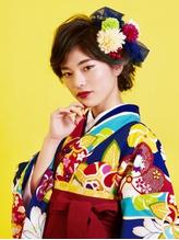 【M.SLASH】袴も着物も似合う♪セットアップ 着物ヘア.1