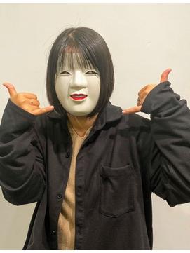 【coma中野】黒髪でも軽やかシースルーボブ