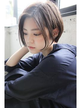 ★表参道/青山/ショートボブ/前髪なし/前下がり/イルミナカラー