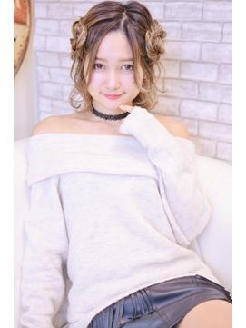 【メイズ東中野・鍛原志行】ミディアムボブ編みこみツインテール
