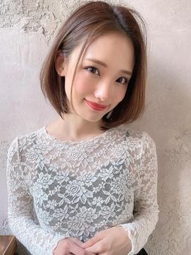【Lond Alexia】柴田知亜希 20代30代40代綺麗め◎かきあげボブ
