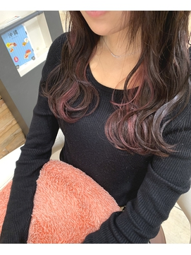 【Euphoria /宮田真白】清楚カラーインナーカラーピンク
