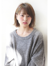 【Un ami】《増永剛大》2017人気、切りっぱなし風、外ハネボブ☆ ウェーブ.51