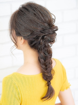 【AUBE HAIR】編みおろしラフアレンジ