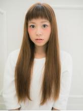 ツヤ感UPのストレートヘアはいつだって《女子のアコガレ&モテ王道♪》前髪・顔回りのみの部分施術もOK★