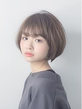 【AUBE HAIR】ミントグレーボブ_マニッシュショート