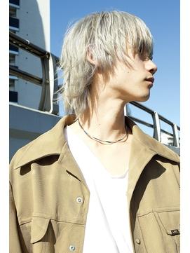 【DIORAMA】マッシュウルフ/ホワイトブロンド/ブリーチ×3