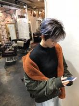 デザインカラー ショートボブ stylist KE-TO.32