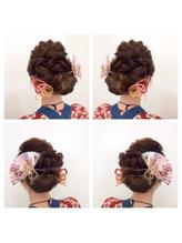 2017年☆秋祭りヘアセット 盛り髪.32