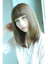 前髪短め光沢ロブスタイル.29