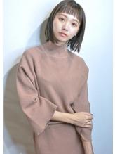 Saphir☆ジグザグバングのミニマムボブ暗髪.32
