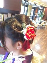 編み込み まとめ髪.43
