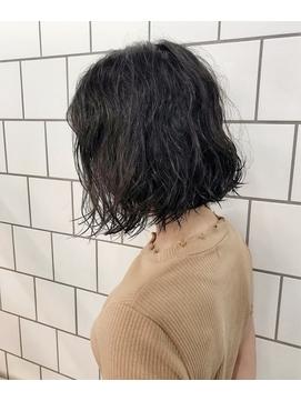 【anon 田中雄一】ミックスパーマボブ