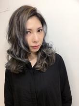 モード系カラー × ラフウェーブ ★ まとめ髪美人 モード系.29