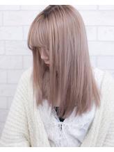 ミルクティーカラー艶髪ロングヘアストレートヘア.36