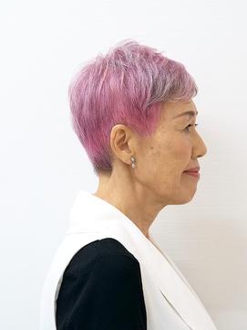 【えがお美容室】50代60代に人気◎ 個性的 マニッシュショート