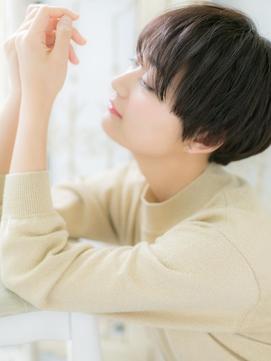 【シエル松戸】モード&クールな黒髪ベリーショートa