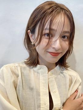 【GARDEN荒井夏海】前髪なしレイヤーボブ × ココアベージュ