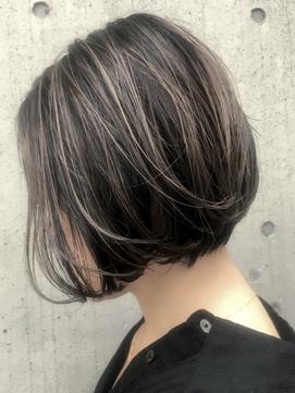 30代40代50代髪型☆ボリュームアップ前下がりショートボブ☆