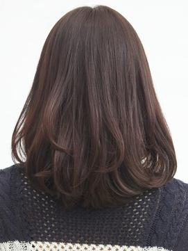 脱白髪染めハイライト☆毛先カール×立体感ナチュラルブラウン