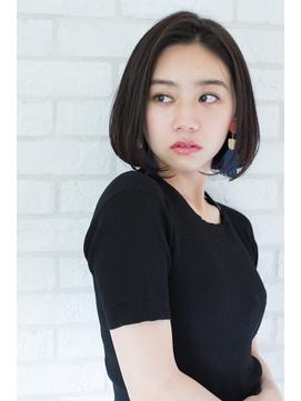 【東 純平】大人かわいい 毛先パーマ ワンレンボブ
