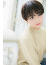 *mod's姪浜*…モード&クールな黒髪ベリーショートa.22