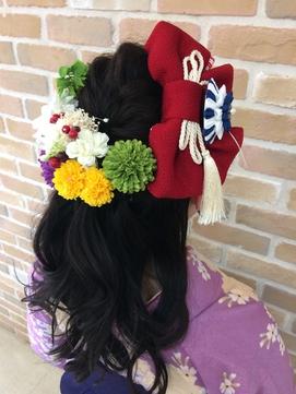 卒園式 謝恩会 ハーフアップ