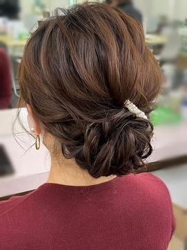 【プレストベル】シンプルルーズなアップスタイル