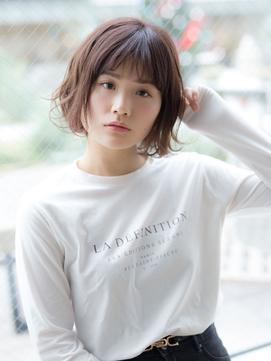 【若井】小顔シフォンパーマボブ