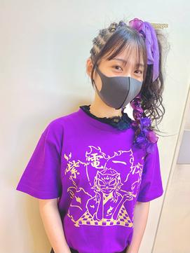 体育祭やお祭りに☆! // 盛り髪セット