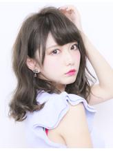 マットアッシュカラー☆愛されふんわりールセミロング ワンレングス.18