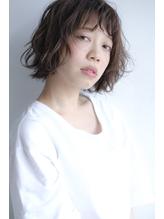 透明感グレーサファイア×セミウェットほつれボブ 秋.22