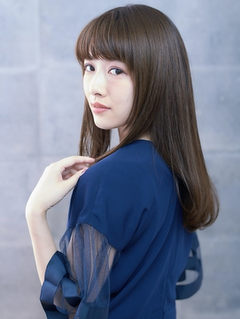 【AUBE HAIR】重めバング_毛先カールストーレト