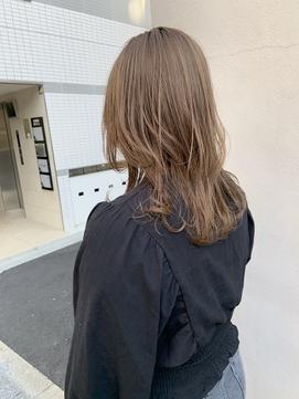 【CYAN】#10代20代#透明感カラー#ハイトーン#ロングウルフ