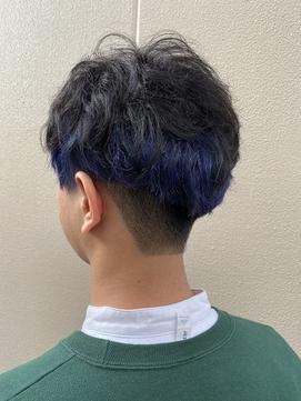 インナーカラー×ダークブルー