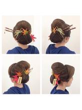 2017年☆秋祭りヘアセット 盛り髪.24