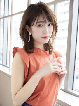 アフロート斎藤 大人可愛いくびれミディアムレイヤー小顔前髪