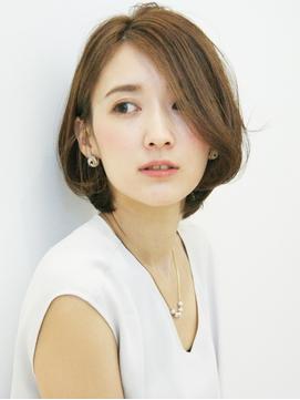 【30代40代50代】 前髪長めショートボブ