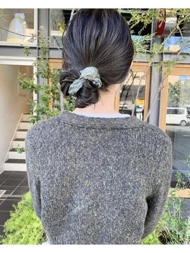 【LA PENSEE】ハイライトカラー 簡単シュシュアレンジ