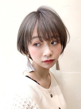 【NEUTRAL DOOR 浦】小顔ひし形ショートボブ 前髪あり