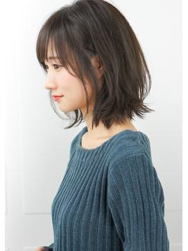 【rue京都】黒髪暗髪アッシュ小顔前下がり切りっぱなしボブ☆