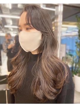 オルチャンヘア ヨシンモリ シースルーバング モテ髪カタログ