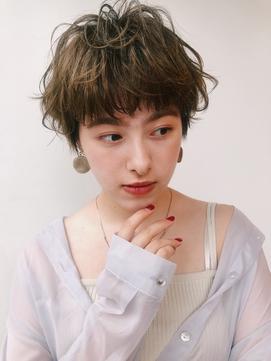 【GARDEN西川】大人可愛い前髪・フリンジウェーブショートパーマ