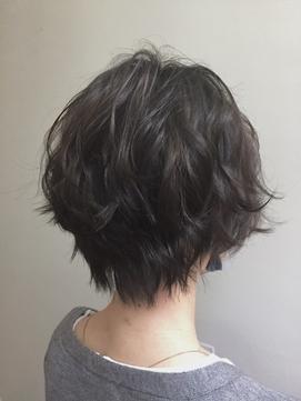 ゆるふわショートパーマ[イルミナカラー][髪質改善][銀座]