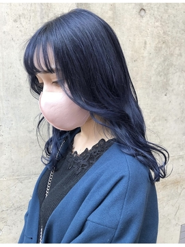 【LOGUE】外国人風ブルーブラック