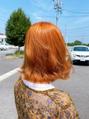 ブリーチなし オレンジカラー