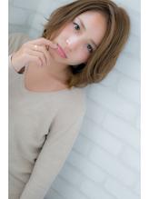 『ROMA』ひし形シルエットで抜け感メルトカラー大人ミディアム ママ.44