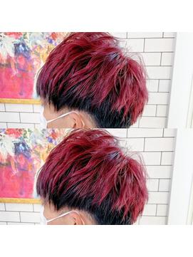 *THE  RIRE. ツートンカラー 赤×黒*