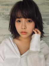 【山田晶悟】グレージュ外はねミディアム.36