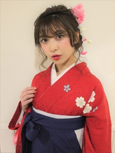 【卒業式 袴 着付 受付中→¥14040】ギブソンダックアレンジ 三つ編.27